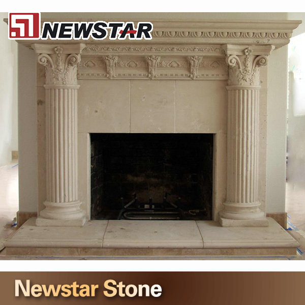 indoor used fireplace mantel,stone fireplace,marble column fireplace mantel