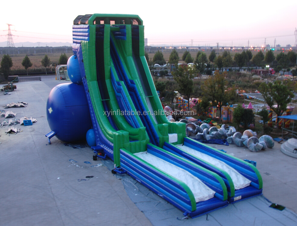 large cheap heavy duty inflatable water slides