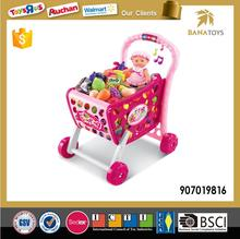 Supermarket pretend toys kids shopping trolley