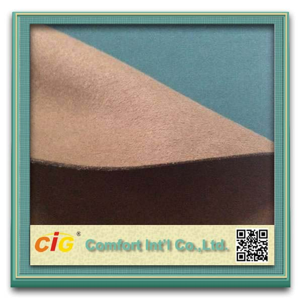 Microfiber fabric leather 100% polyester microfiber fabric pa coating micro fiber leather