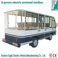 Electric enclosed shuttle bus, 8 seater, CE approved
