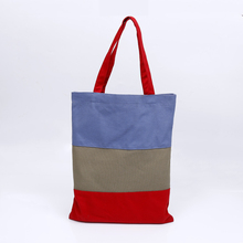 OEM China supplier handle style bag 100% plain cotton tote bag