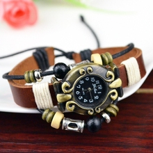 Diy Leather Wrap Woman Lady Watch Bracelet