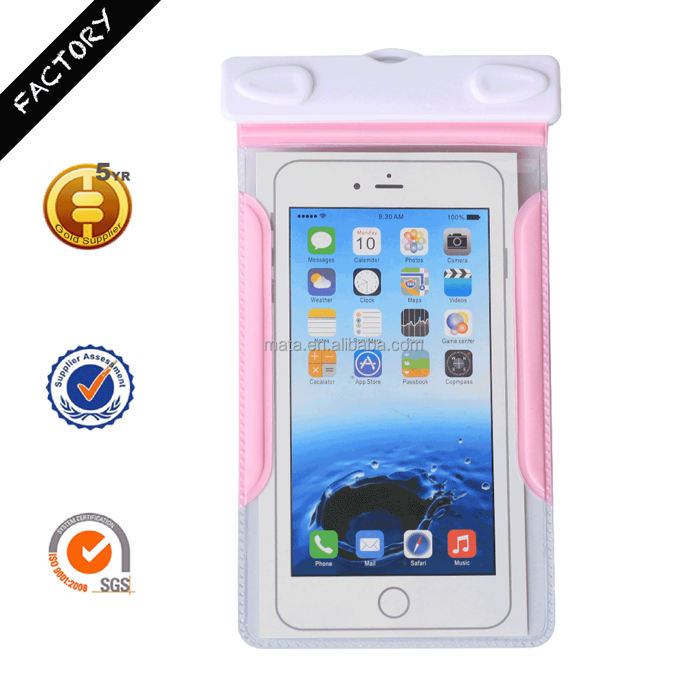 "Hot Sale Waterproof Mobile Phone Case Bag Cover for iPhone for Samsung with IPX8 (up to 6"" inch)"