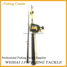 Fishing combo with ugly stick fishing rod and trolling fishing reel