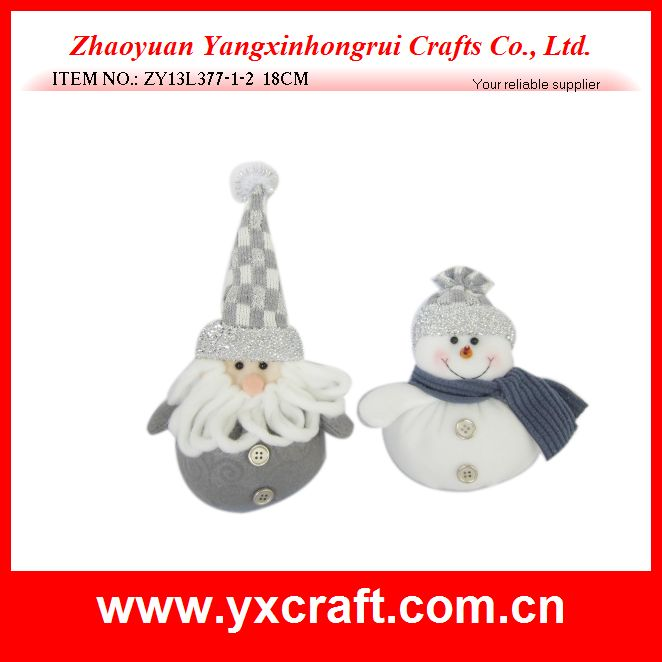 Christmas funny gift (ZY13L377-1-2 18CM) santa and snowman gift christmas cosmetic products