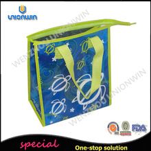 Green cheap price silk screen printing non woven shopping bag/pp woven bag for shopping market