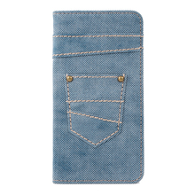 Wholesale China canvas+pc phone protective Jean wallet case