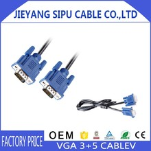 High definition video transmission D-Sub cable 3+5 VGA TO VGA Cable