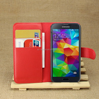 Wholesale Folio Stand Case for Samsung Galaxy S5 mini PU Leather Flip Cover with Wallet