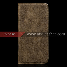 mobile phone case for iphone 7 with full grain first layer real leather material