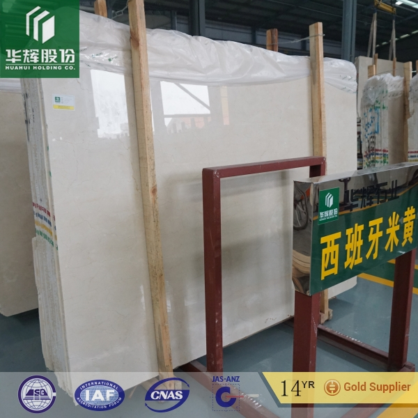 Chinese factory price beige marble Cream Marfil for interior decoration
