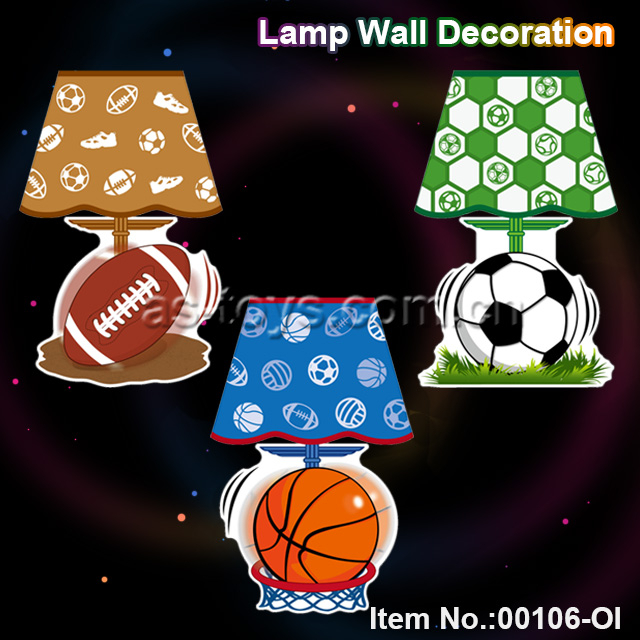 Outdoor sport lamp wall decoration led light toy
