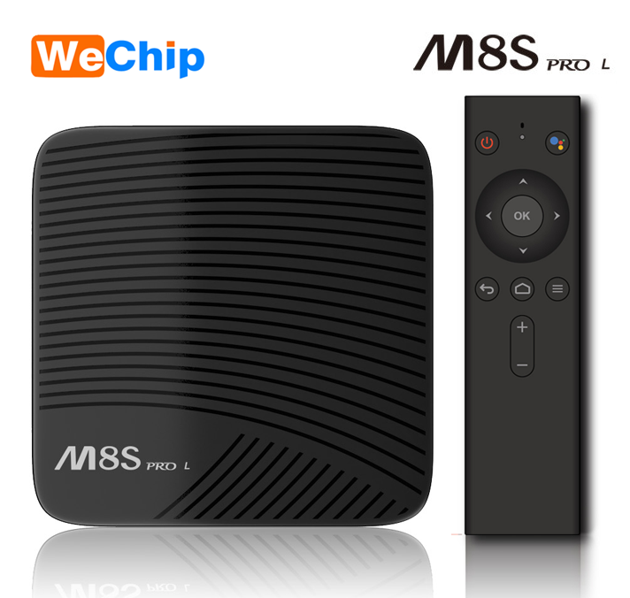 Cheapest Google Android TV OS 3GB RAM 16GB ROM amlogic S912 chip Voice Search Bluetooth 4.1 TV box M8S PRO L