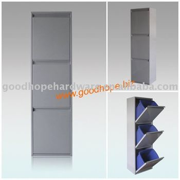 GH-L013 standing galvanized iron indoor classfication rubbish box