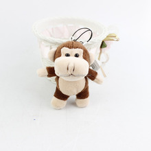 2016 Hot Sale High Quality China wholesale stuffed animal customized little monkey plush keychain toy cute orangutan