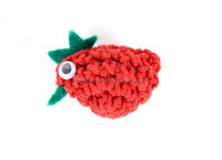 Small Red Crochet Chicken Fridge Magnet Home Decoration