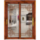HS-JY8053 fancy indian design fiber bathroom sliding glass door