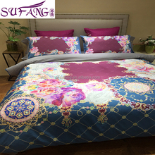 2017 Amazon Hot Sale Embroidery Fashion Dragon and Phoenix Pattern Jacquard Chinese Wedding Bedding Set