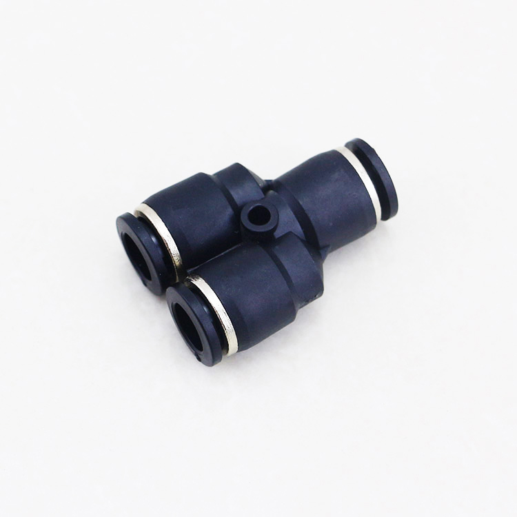 4MM 6MM 8MM 10MM 12MM Pipe Connector Plastic 3 Way <strong>Y</strong> Type Pneumatic Fittings