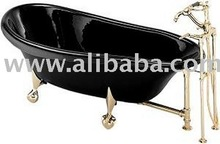 72 Inch Kohler Birthday Bath Slipper Clawfoot Bathtub with Chrome Feet No Faucet Drillings