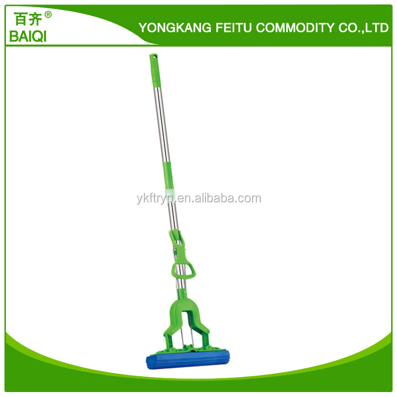 Cleaning tools telescopic folding typePVA mop with Professional Double Roller Sponge Foam Rubber Head Mop