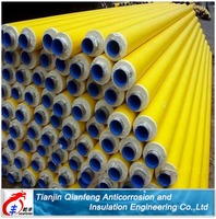 The finished product high quality yellow jacket polyurethane foam insulation steel pipes
