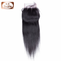 Bolin Hair Bleached Knots Cheap Human Hair Free Parting Lace Closure