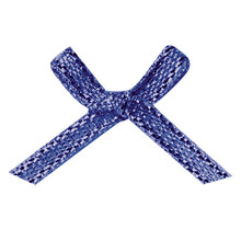 Hand carved low cost nice blue glitter lingerie ribbon bow