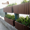 Outdoor rectangular outdoor wpc flower pot stand recycle plastic wood planter box