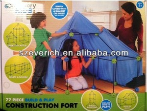 DIY discovery kids construction fort play tent