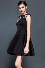 2016 custom summer fashion black modern dinner women dress