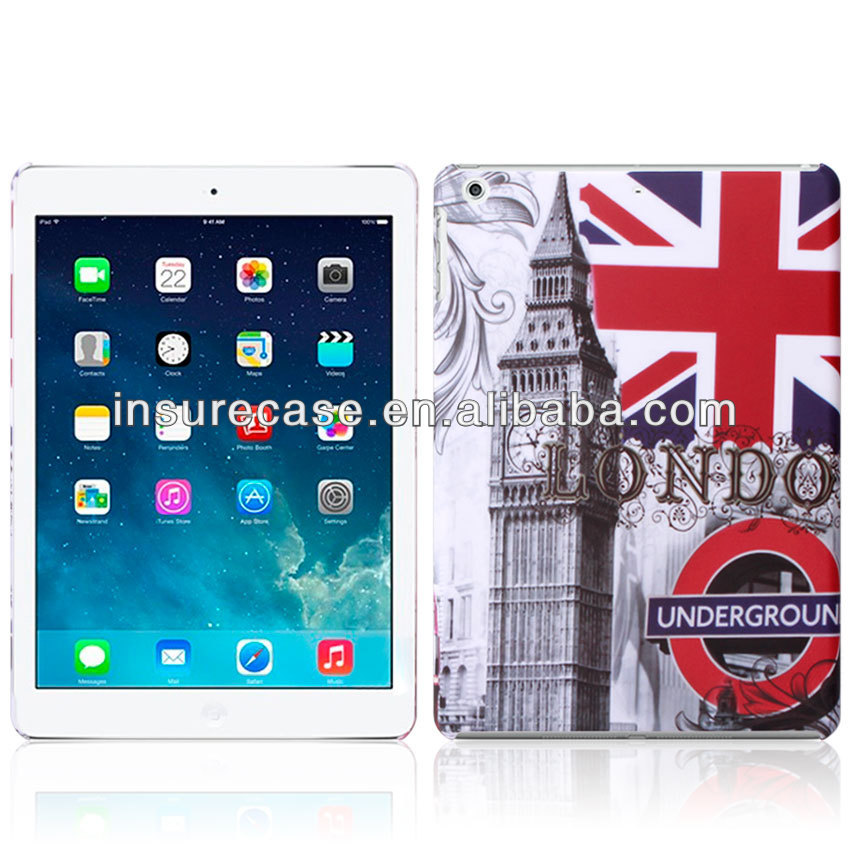 Hard plastic Tablet case for ipad air,Fashion Retro UK Flag printing Hard plastic case for ipad Air/ipad 5