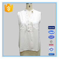 Women Beads Wholesale Plain White Tank Top