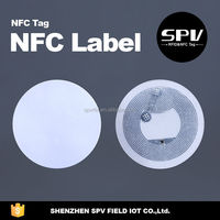 Blank NFC Stickers Coated paper Ntag213 Dia25mm Readable& Writable datas for Smart phone