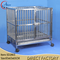 strong stainless steel dog cage dog crate for sale