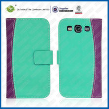 C&T Green leather flip case for samsung galaxy s3 i9300