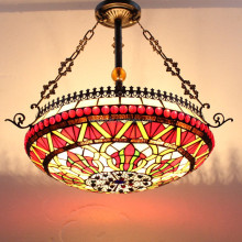 "S079R28D01 of 28"" Antique tiffany ceiling lamp factory manufacturer for wholesale"
