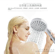 five spray function plastic massage wellness hand shower set rain with shower hose