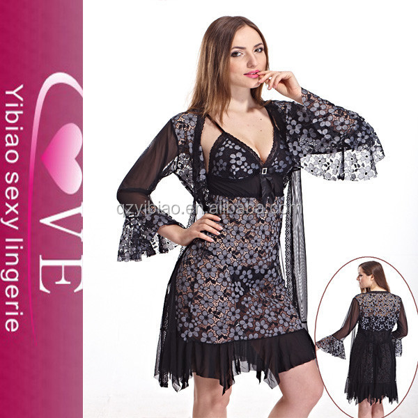 grace purple deep v-neck hot babydoll of cool design women night sleep dress