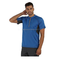 Summer men's outdoor sports T-shirt two-color splice sweatshirt high quality cotton top
