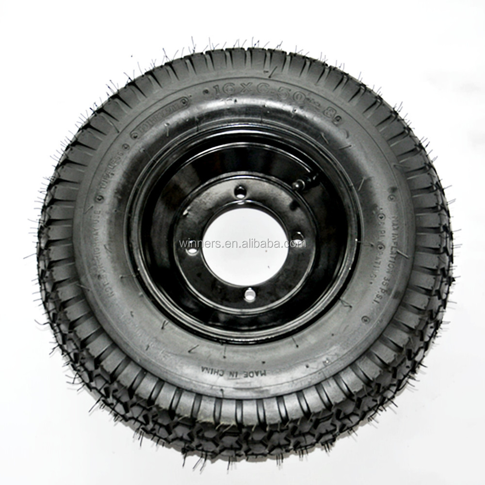 16x6.50-8 tubeless type air filled turf lawn mower wheels