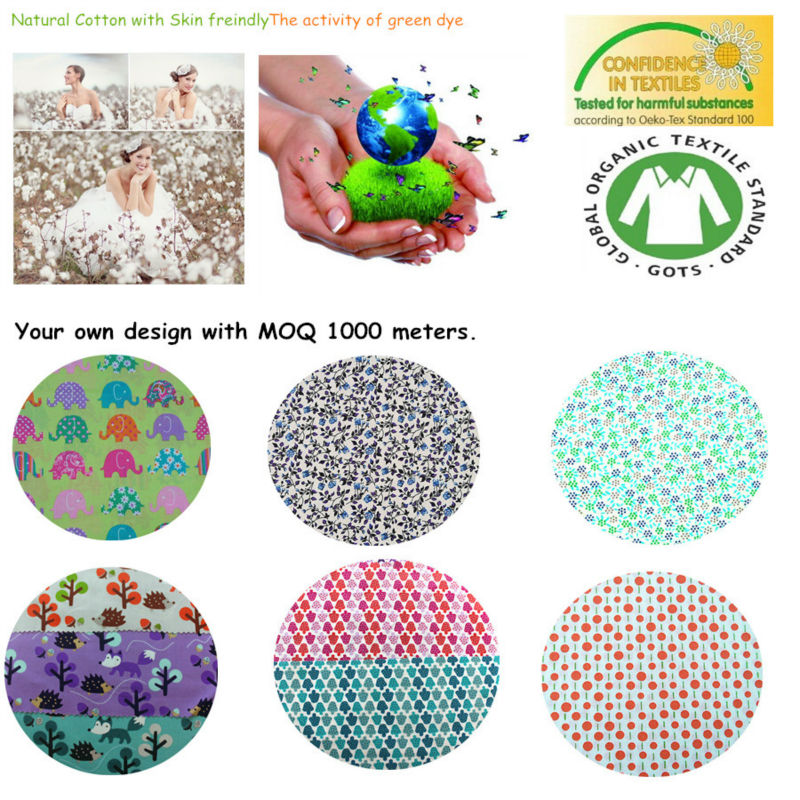 GOTS certified Organic Cotton Printed fabrics for kids