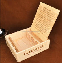 Luxury Wooden Wine Box For 3 bottles Made-in-China Wood Wine Box Customized
