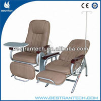 BT-TN005 With Dinning Table mechanical hospital stainless steel iv infusion chair