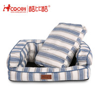 COOBYPET Custom wholesale luxury non slip pet puppy dog bed with pillow