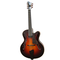 Fully handmade solid wood archtop 7 strings electric jazz guitar