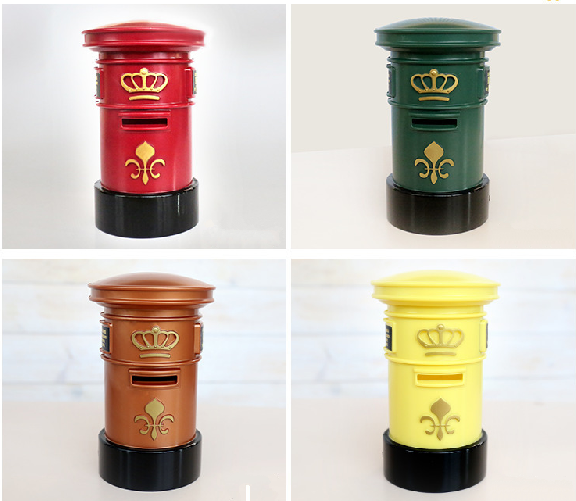 Hot Selling Nostalgic Style Round Coin Purse Tin Box, Mailbox Shaped Money Bank Tin Box,Customized Tin Box