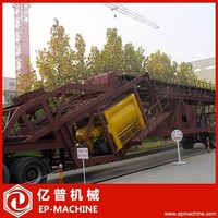 Simple installation 75m3 mobile concrete plant for ready mix concrete