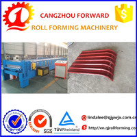 metal awning canopy colored steel arched roof making machine